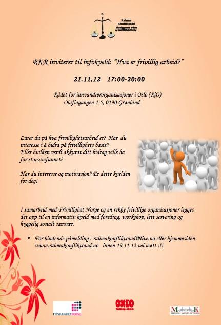 Invitasjon til infokveld 21.11.12